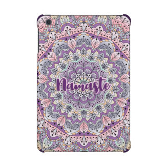 Namaste Cute pink and purple floral mandala iPad Mini Cover