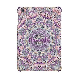Namaste Cute pink and purple floral mandala iPad Mini Retina Cover