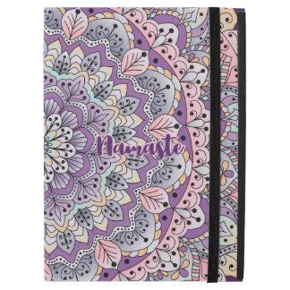 "Namaste Cute pink and purple floral mandala iPad Pro 12.9"" Case"