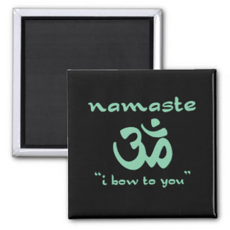 Namaste - I bow to you (in green) Magnet