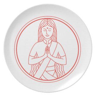 Namaste  Icon Plate