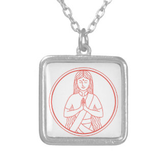 Namaste  Icon Silver Plated Necklace