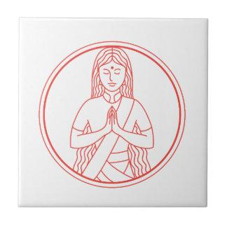 Namaste  Icon Tile