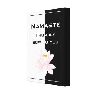 Namaste in Black & White Canvas Print