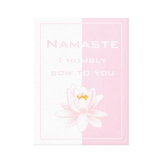 Namaste in Pink & White Canvas Print