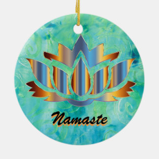 Namaste Lotus Blue Ornament