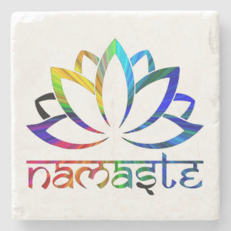 Namaste, Lotus Flower, Rainbow, Spiritual Coasters