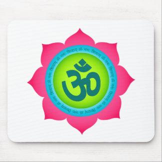 Namaste Lotus Flower Yoga Om Mouse Pad
