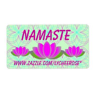 Namaste  lotus labels