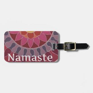 Namaste  Lotus Mandala YOGA INSPIRED Luggage Tag
