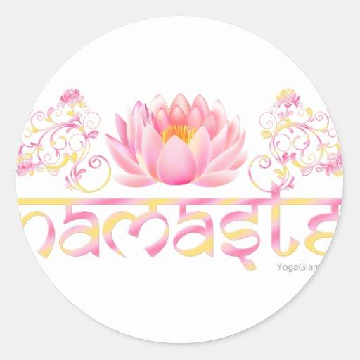 Namaste lotus new stickers