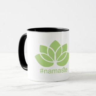 #namaste Lotus Yoga Coffee Mug