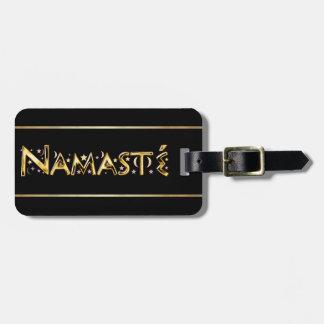 Namasté Luggage Tag