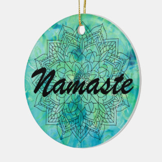 Namaste Mandala Blue Ornament