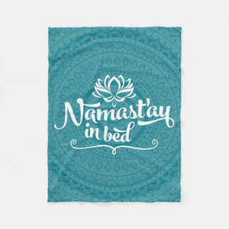 Namaste Mandala Funny Quote Fleece Blanket