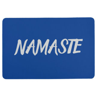 NAMASTE Navy Blue Yoga Floor Mat