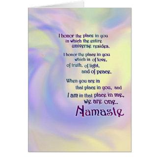Namaste Note Card