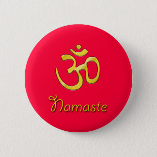 Namaste Om Red button base/root chakra