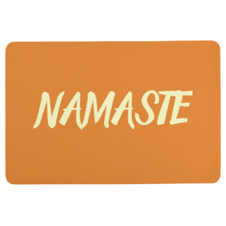 NAMASTE Orange Yoga Floor Mat