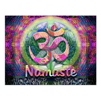 Namaste Peace Symbol Postcard