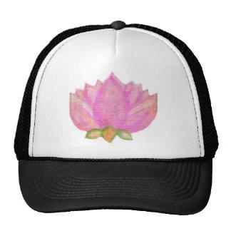 Namaste pink lotus blossom yoga wear trucker hat