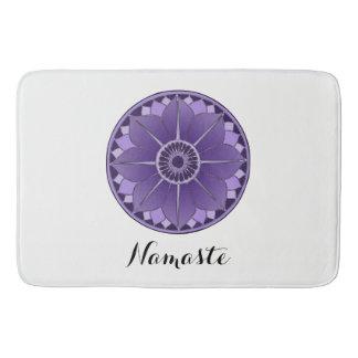NAMASTE Purple Flower Spiritual Lotus Mandala Bath Mat