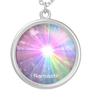 Namaste rainbow necklace