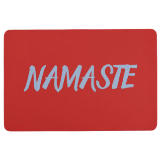 NAMASTE Red Yoga Floor Mat