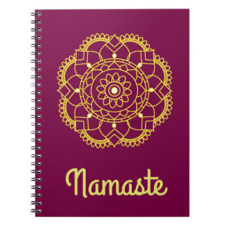 Namaste Sends it Spiral Note Book