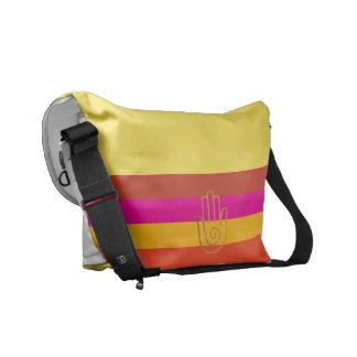 Namaste striped golden hand Messenger Bag