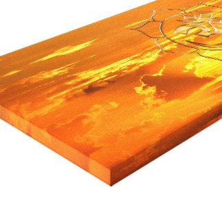 Namasté sunrise canvas print