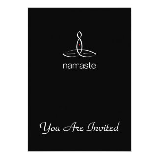 Namaste - White Regular style 13 Cm X 18 Cm Invitation Card