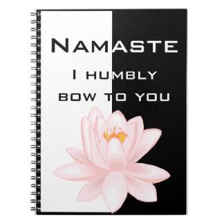 Namaste with Om symbol Notebooks
