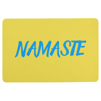 NAMASTE Yellow Yoga Floor Mat