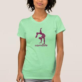Namaste Yoga apparel, handstand pose Tee Shirts