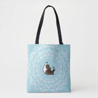 Namaste Yoga Brindle Corgi Tote Bag