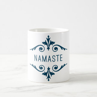 Namaste Yoga Fitness Motivation Typography Basic White Mug