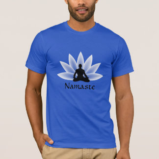 Namaste Yoga Lotus Man Custom T-shirt
