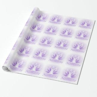 Namaste Yoga Lotus Woman Flower Violet Gift Wrap