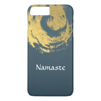 Namaste Yoga Meditation Instructor Blue Gold ZEN iPhone 8 Plus/7 Plus Case