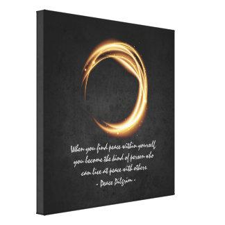 Namaste Yoga Meditation Quotes Black Gold ZEN Sign Canvas Print