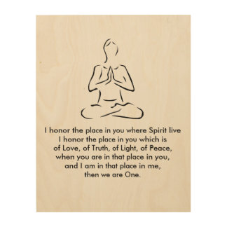 Namaste Yoga Pose Wood Word Art