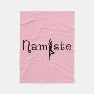 Namaste Yoga Silhouette Fleece Blanket