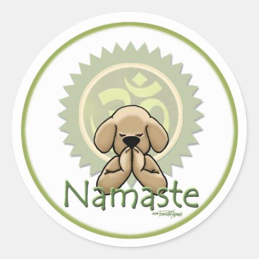 Namaste - yoga stickers