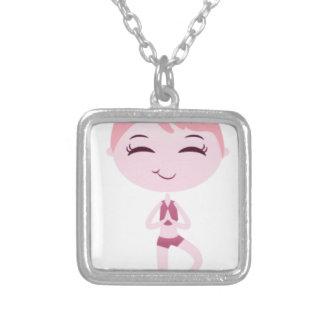 Namaste Yogi Silver Plated Necklace