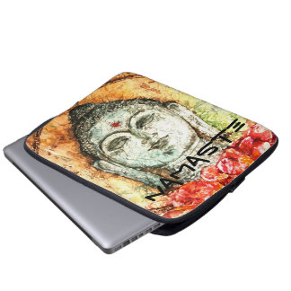 Namaste Zen Buddha Watercolor Art Laptop Sleeve