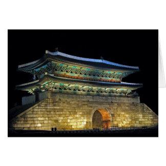 Namdaemun Gate Seoul Greeting Card