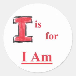 "Name Above All Names Sticker ""I"""