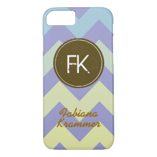 name and initial personalized on chevron iPhone 7 case