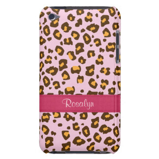 Name animal leopard print pink brown ipod case iPod touch case